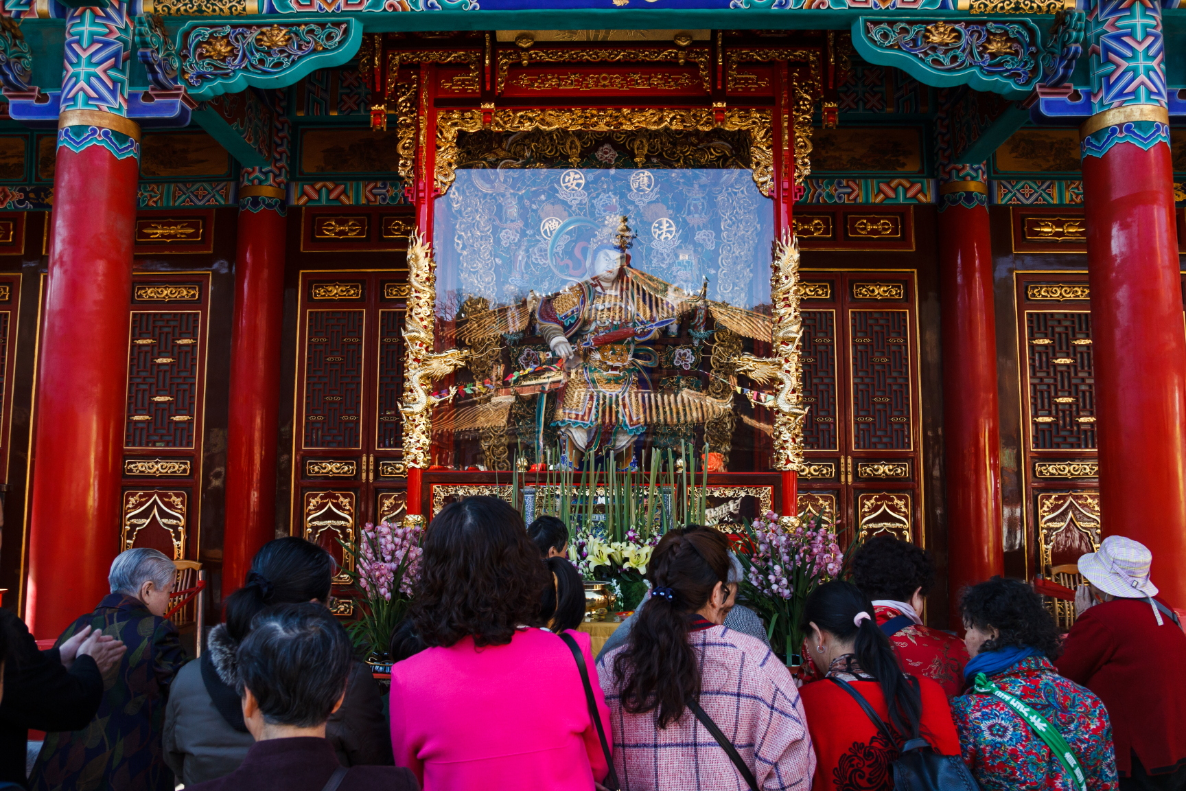 chinese temple during chinese new year